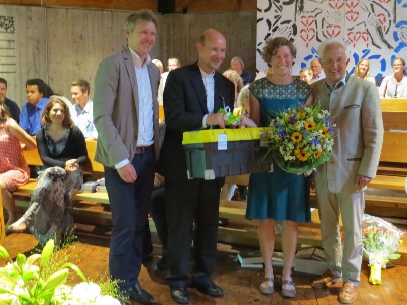 Pfarrer Reichert, Pfarrer Ziermann, Diakonin Protze und Herr Breitenbach aus dem KV