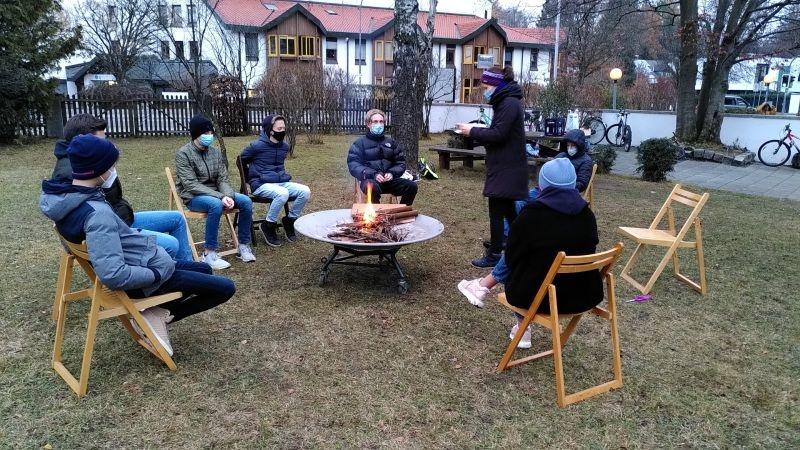 Konfirmandenstunde im Freien